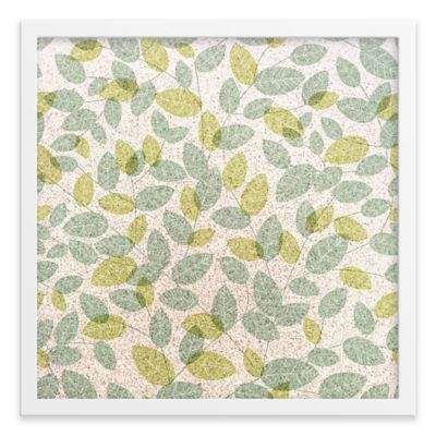 Leaves Framed Corkboard