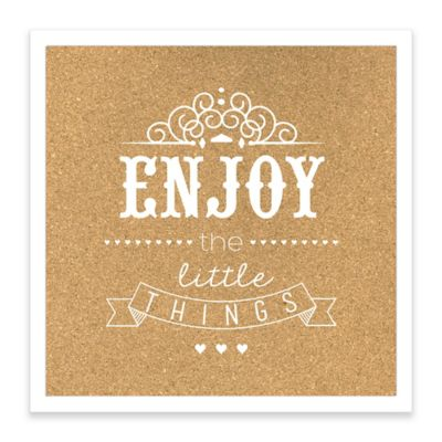 Enjoy the Little Things Framed Corkboard