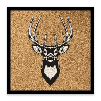 Deer Head Framed Corkboard