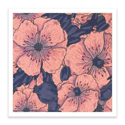 Pink Poppies Framed Corkboard