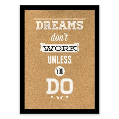 Dreams Framed Corkboard