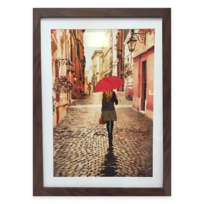Graham & Brown Girl with Red Umbrella Framed Wall Art