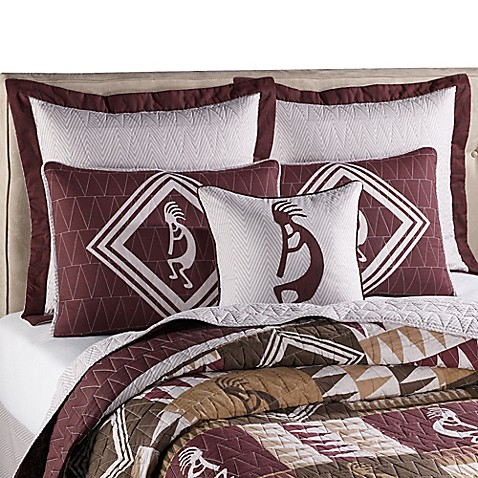 Southwestern Standard Pillow Shams : Kokopelli Standard Pillow Sham - Bed Bath & Beyond