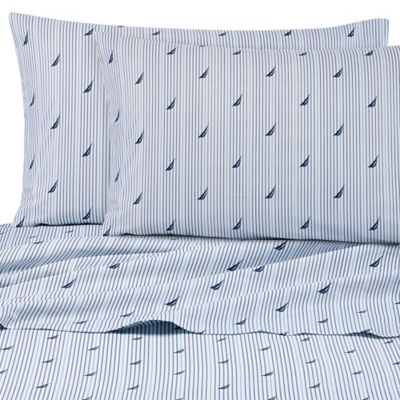 Nautica® Audley Twin Sheet Set in Blue