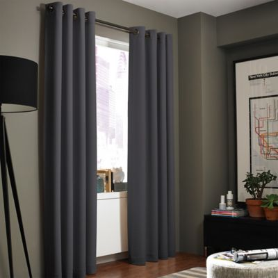 Buy Charcoal Gray Panel Curtains From Bed Bath Amp Beyond