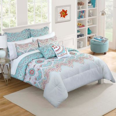 Vue® Cordova Reversible Twin XL Comforter Set in Sky