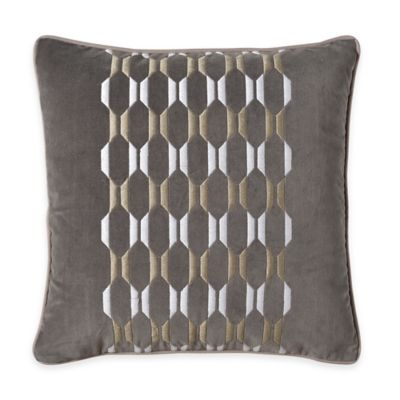 Bridge Street Winslow Embroidered Square Throw Pillow