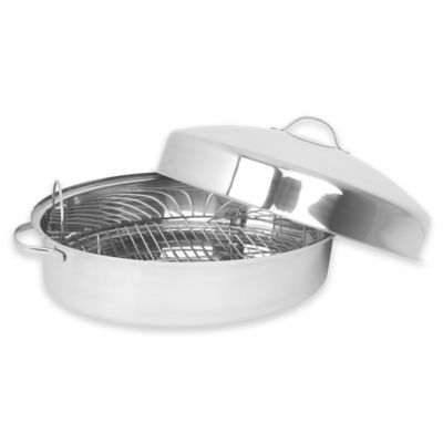 Oneida® Stainless Steel 18-Inch x 12-Inch Oval Domed Covered Roaster