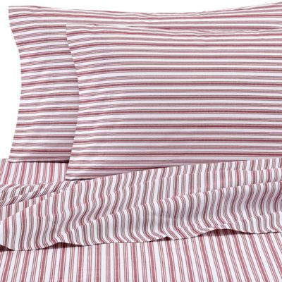 Nautica® Coleridge Twin Sheet Set in Red