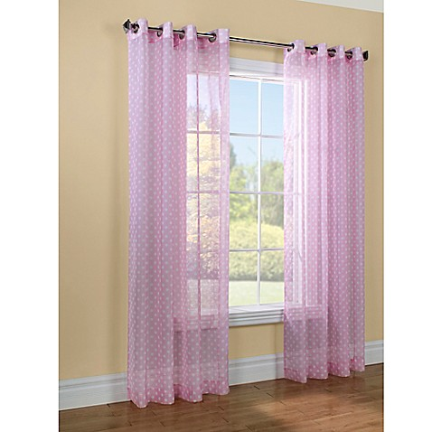 Buy Commonwealth Home Fashions Dots 63 Inch Window Curtain Panel In Pink From Bed Bath Beyond