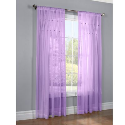Jewels 63-Inch Window Curtain Panel in Grey