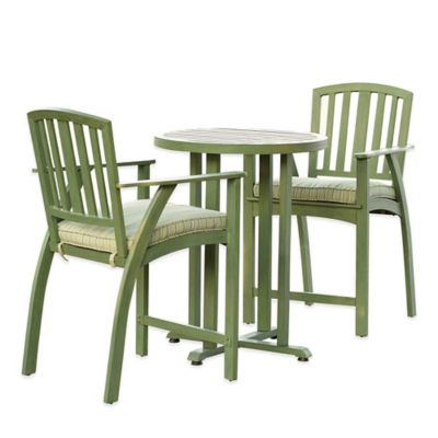 Excelsior 3-Piece Steel Compact Patio Bistro Set in Green
