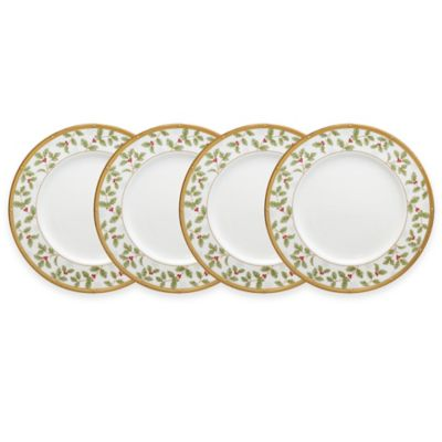 Gold White Dinnerware Plates