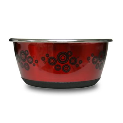 Durapet® Slip-Resistant Stainless Steel Large Pet Bowl in Red
