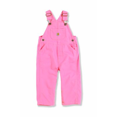 Carhartt® Size 9M Washed Microsanded Canvas Bib Overalls in Pink