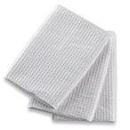 Microfiber Multi-Purpose Kitchen Towels (Set of 3) in White