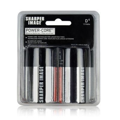 Sharper Image® PowerCore® 4-Pack D Alkaline Batteries
