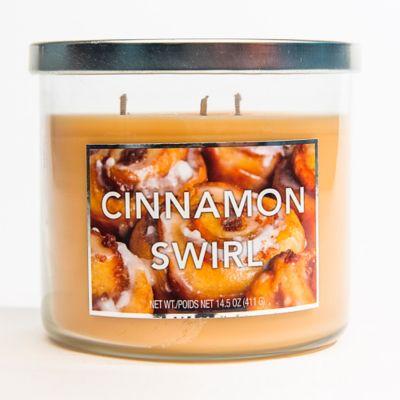 3-Wick Cinnamon Swirl Jar Candle