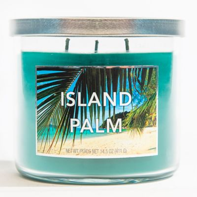 3-Wick Island Palm Jar Candle