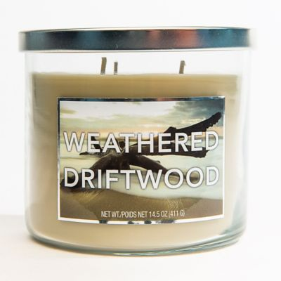 3-Wick Weathered Driftwood Jar Candle