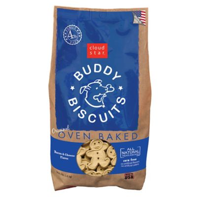 Cloud Star Original Buddy Biscuits Oven Baked Bacon and Cheese Flavor Dog Treats