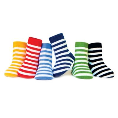 Trumpette Size 12-24M 6-Pack Striped Socks