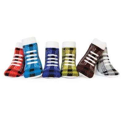 Trumpette Size 0-12M 6-Pack Plaid High-Top Socks