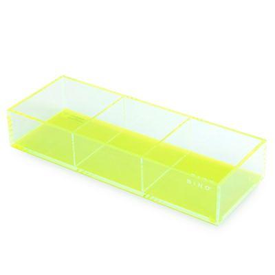 BINO® 3-Section Acrylic Vanity Tray in Green