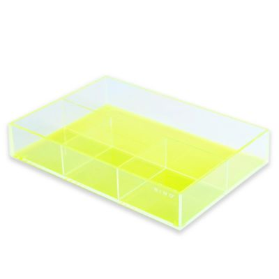 BINO® 4-Section Acrylic Vanity Tray in Green