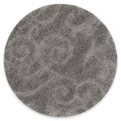 Safavieh Lynch 79-Inch Round Accent Rug in Grey
