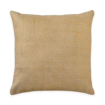Bridge Street Cordelia Burlap Square Throw Pillow in Gold