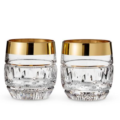 Waterford® Mixology Mad Men Edition Olson Double Old Fashioned Glasses in Gold (Set of 2)