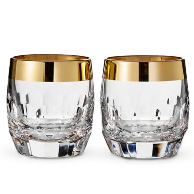 Waterford® Mixology Mad Men Edition Draper Double Old Fashioned Glasses in Gold (Set of 2)