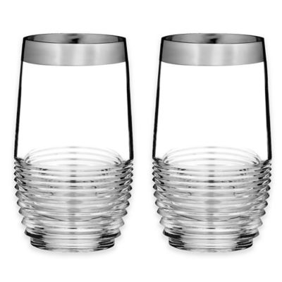 Waterford® Mixology Mad Men Edition Circon Highball Glasses in Platinum (Set of 2)