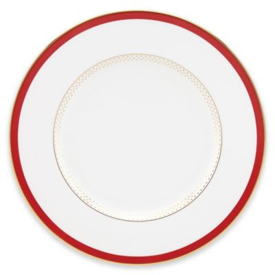 Red White Accent Plate