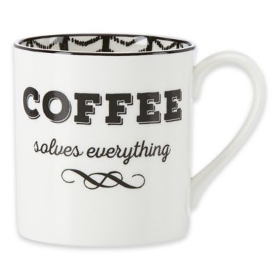 "Lenox® Bistro Place ""Coffee Solves Everything"" Mug"