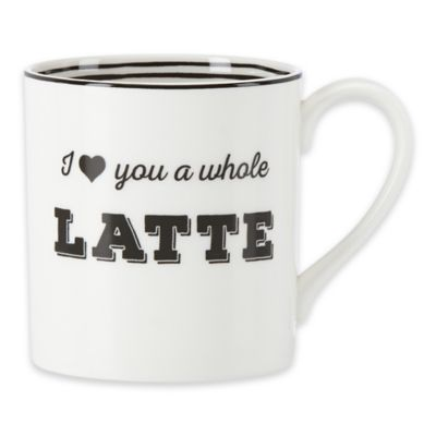 """Lenox® Bistro Place """"I Love You a Whole Latte"""" Mug"""