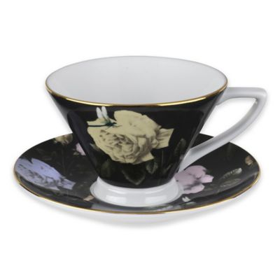 Ted Baker Portmeirion® Rosie Lee Teacup and Saucer in Black