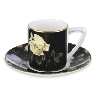 Ted Baker Portmeirion® Rosie Lee Espresso Cup and Saucer in Black