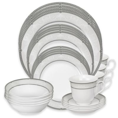 Lorren Home Trends Ballo 24-Piece Dinnerware Set