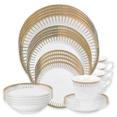 Lorren Home Trends Aria 24-Piece Dinnerware Set