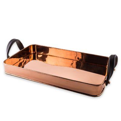 Old Dutch International Cheyenne Copper Rectangular Tray