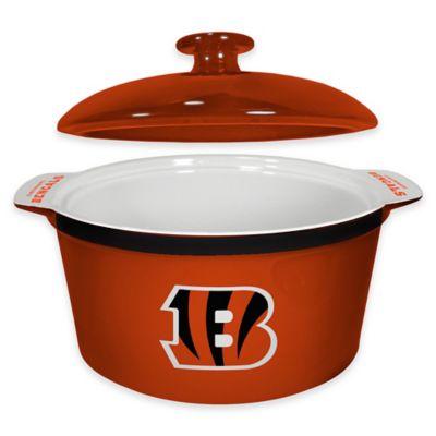 NFL Cincinnati Bengals Sculpted Ceramic Gametime Oven Bowl