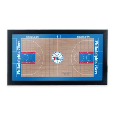 NBA Philadelphia 76ers Home Court Framed Plaque