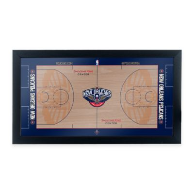 NBA New Orleans Pelicans Home Court Framed Plaque