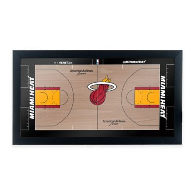 NBA Miami Heat Home Court Framed Plaque