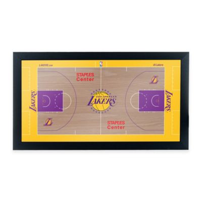 NBA Los Angeles Lakers Home Court Framed Plaque