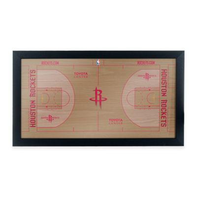 NBA Houston Rockets Home Court Framed Plaque