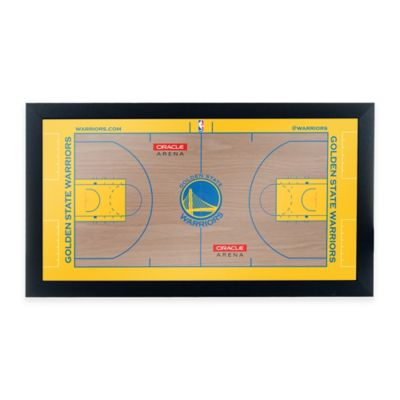 NBA Golden State Warriors Home Court Framed Plaque