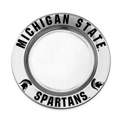 Wilton Armetale Michigan State University Small Round Tray